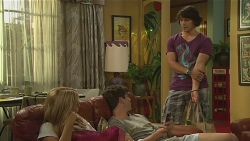 Natasha Williams, Chris Pappas, Aidan Foster in Neighbours Episode 6395