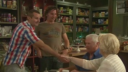 Toadie Rebecchi, Lucas Fitzgerald, Lou Carpenter, Vera Munro in Neighbours Episode 6395