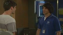 Chris Pappas, Aidan Foster in Neighbours Episode 6396