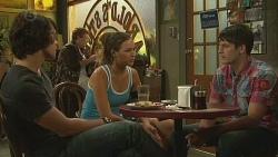 Aidan Foster, Jade Mitchell, Chris Pappas in Neighbours Episode 6397