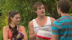 Jade Mitchell, Bossy, Kyle Canning, Rhys Lawson in Neighbours Episode 6399