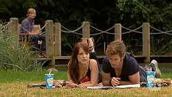 Andrew Robinson, Summer Hoyland, Griffin O'Donahue in Neighbours Episode 6410