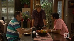 Karl Kennedy, Andrew Robinson, Ajay Kapoor in Neighbours Episode 6411