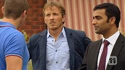 Toadie Rebecchi, Captain Troy Miller, Ajay Kapoor in Neighbours Episode 6412