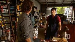 Lucas Fitzgerald, Chris Pappas in Neighbours Episode 6414