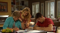 Andrew Robinson, Natasha Williams, Chris Pappas in Neighbours Episode 6415