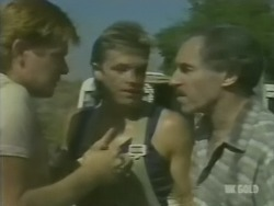 Clive Gibbons, Shane Ramsay, Jack Lassiter in Neighbours Episode 0238
