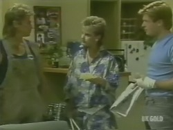 Shane Ramsay, Daphne Clarke, Clive Gibbons in Neighbours Episode 0238
