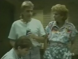 Danny Ramsay, Shane Ramsay, Madge Bishop in Neighbours Episode 0239