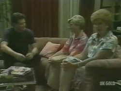Des Clarke, Helen Daniels, Madge Bishop in Neighbours Episode 0239