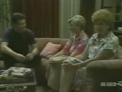 Des Clarke, Helen Daniels, Madge Mitchell in Neighbours Episode 0239