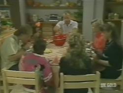 Scott Robinson, Lucy Robinson, Jim Robinson, Charlene Mitchell, Helen Daniels, Nikki Dennison in Neighbours Episode 0242