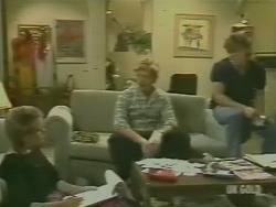 Daphne Clarke, Clive Gibbons, Mike Young in Neighbours Episode 0242