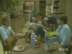 Shane Ramsay, Madge Bishop, Max Ramsay, Danny Ramsay in Neighbours Episode 0242