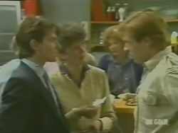 Danny Ramsay, Nell Mangel, Madge Bishop, Clive Gibbons in Neighbours Episode 0242