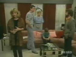 Andrea Townsend, Des Clarke, Eileen Clarke, Bradley Townsend, Gavin McKinley in Neighbours Episode 0243