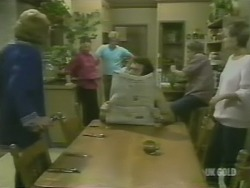 Madge Mitchell, Zoe Davis, Clive Gibbons, Max Ramsay, Shane Ramsay, Daphne Lawrence in Neighbours Episode 0243