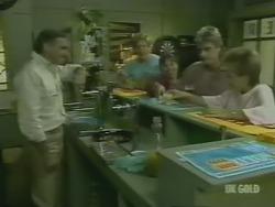 Jack Lassiter, Clive Gibbons, Zoe Davis, Shane Ramsay, Daphne Clarke in Neighbours Episode 0243