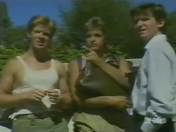 Clive Gibbons, Shane Ramsay, Danny Ramsay in Neighbours Episode 0244