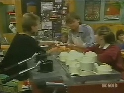 Daphne Clarke, Mike Young, Nikki Dennison in Neighbours Episode 0244