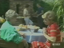 Helen Daniels, Paul Robinson, Jim Robinson, Eileen Clarke in Neighbours Episode 0246