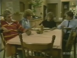 Shane Ramsay, Madge Bishop, Charlene Mitchell, Danny Ramsay in Neighbours Episode 0247