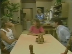 Shane Ramsay, Charlene Mitchell, Madge Bishop, Danny Ramsay in Neighbours Episode 0247