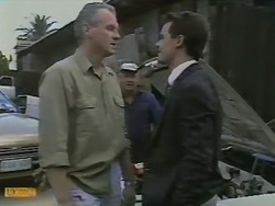 Jim Robinson, Rob Lewis, Paul Robinson in Neighbours Episode 0736