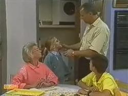 Helen Daniels, Katie Landers, Jim Robinson, Todd Landers in Neighbours Episode 0737