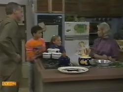 Jim Robinson, Todd Landers, Katie Landers, Helen Daniels in Neighbours Episode 0748