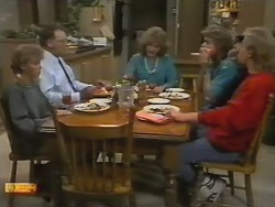 Charlene Robinson, Harold Bishop, Madge Bishop, Henry Ramsay, Scott Robinson in Neighbours Episode 0748