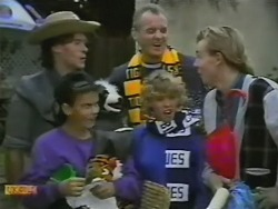 Mike Young, Todd Landers, Jim Robinson, Charlene Robinson, Scott Robinson in Neighbours Episode 0748