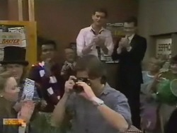 Liz Stanton, Henry Ramsay, Pete Baxter, Harold Bishop, Mike Young, Des Clarke, Paul Robinson in Neighbours Episode 0748