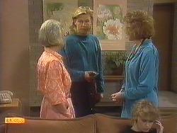 Helen Daniels, Scott Robinson, Madge Bishop, Charlene Mitchell in Neighbours Episode 0760