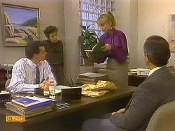 Paul Robinson, Gail Robinson, Jane Harris, Ian Chadwick in Neighbours Episode 0762