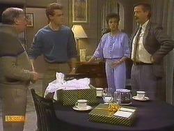 Rob Lewis, Paul Robinson, Gail Robinson, Ian Chadwick in Neighbours Episode 0762