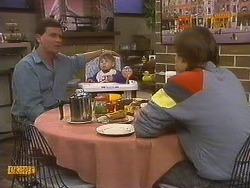 Des Clarke, Jamie Clarke, Mike Young in Neighbours Episode 0764