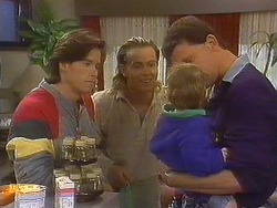 Mike Young, Scott Robinson, Jamie Clarke, Des Clarke in Neighbours Episode 0764