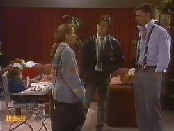 Jamie Clarke, Bronwyn Davies, Mike Young, Des Clarke in Neighbours Episode 0765