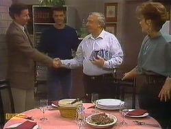 Ian Chadwick, Paul Robinson, Rob Lewis, Gail Robinson in Neighbours Episode 0765