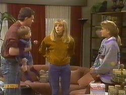 Des Clarke, Jamie Clarke, Jane Harris, Bronwyn Davies in Neighbours Episode 0765