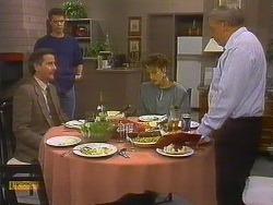 Ian Chadwick, Paul Robinson, Gail Robinson, Rob Lewis in Neighbours Episode 0765