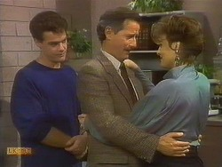 Paul Robinson, Ian Chadwick, Gail Robinson in Neighbours Episode 0765