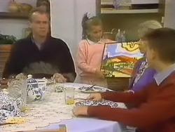 Jim Robinson, Katie Landers, Helen Daniels, Todd Landers in Neighbours Episode 0798