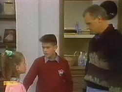 Katie Landers, Todd Landers, Jim Robinson in Neighbours Episode 0798