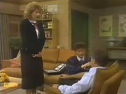 Madge Bishop, Beverly Marshall, Harold Bishop in Neighbours Episode 0799