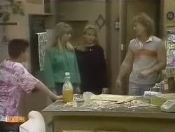 Todd Landers, Jane Harris, Bronwyn Davies, Henry Ramsay in Neighbours Episode 0801