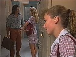 Wayne Duncan, Annalise Hartman, Debbie Martin in Neighbours Episode 1867