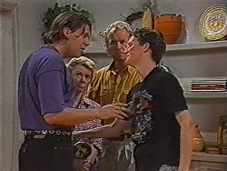 Cameron Hudson, Helen Daniels, Jim Robinson, Greg Bartlett in Neighbours Episode 1868