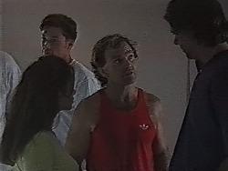 Beth Brennan, Brian McDermott, Cameron Hudson in Neighbours Episode 1869